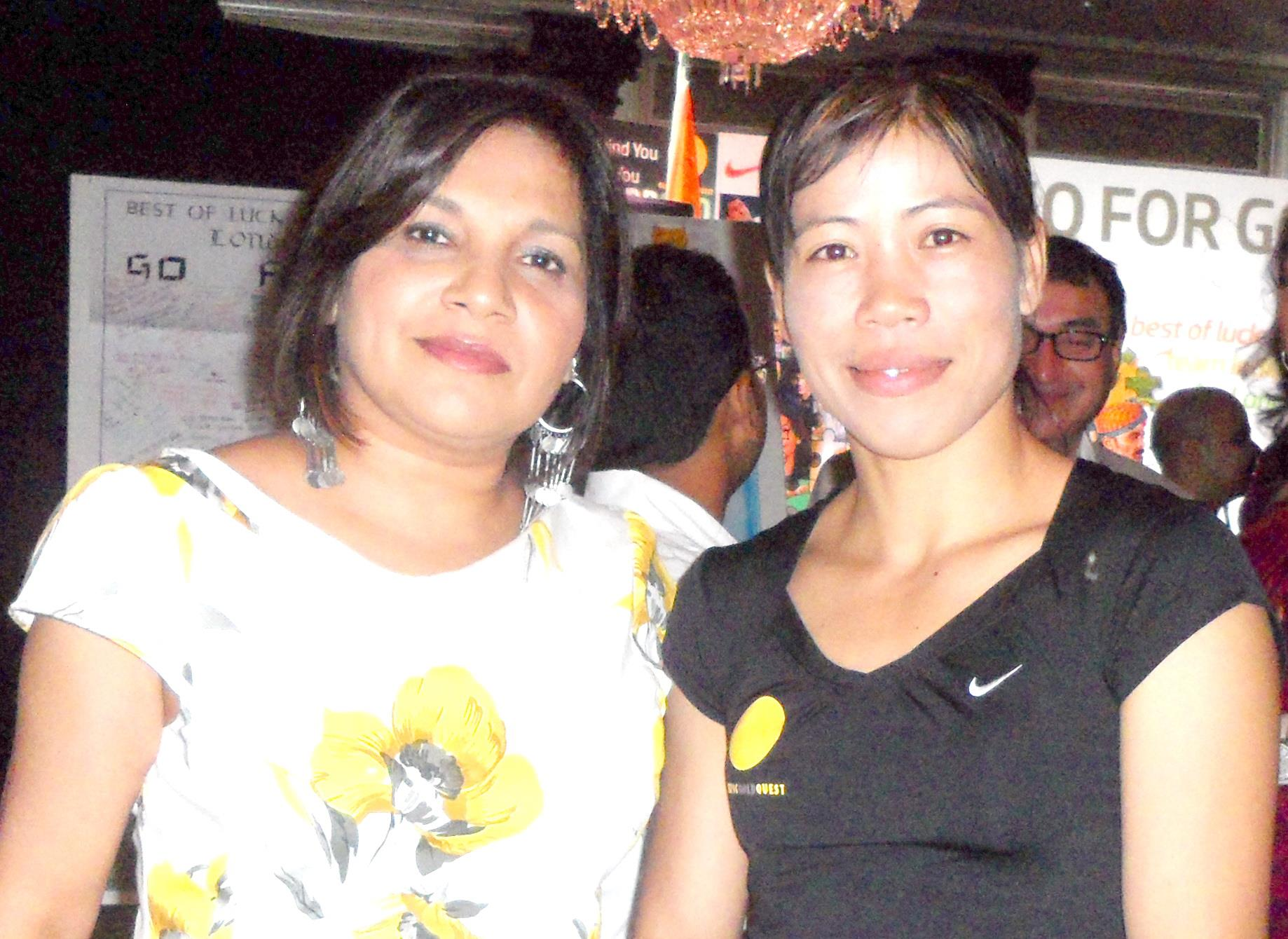 With Olympic Medalist Boxer Mary Kom